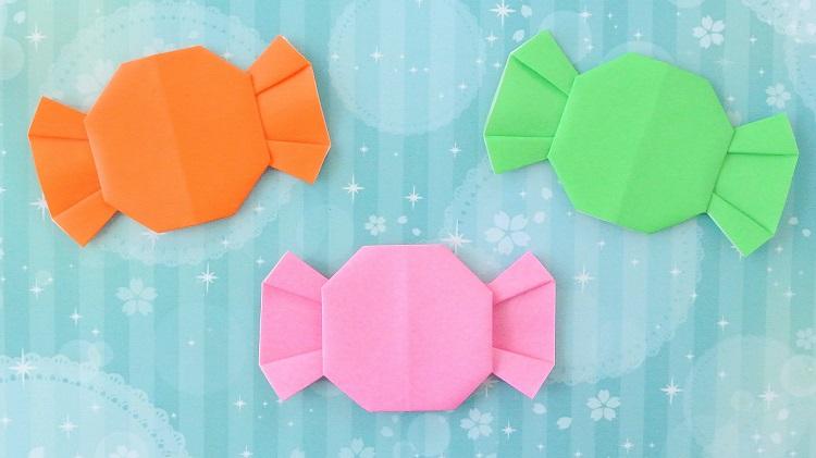 折り紙 可愛い飴(あめ)の作り方 Origami Candy
