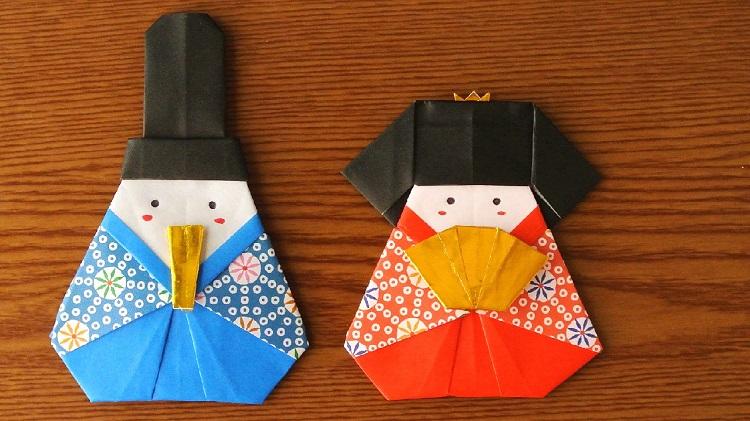 折り紙お雛様の作り方 Origami Hina dolls