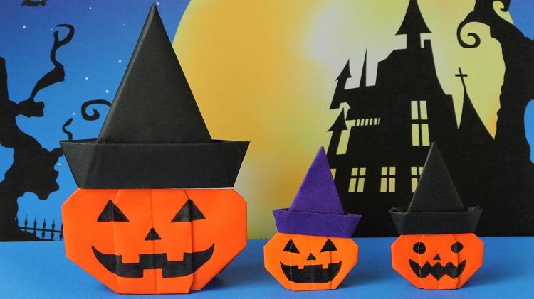 折り紙 ハロウィンかぼちゃの作り方 Origami Halloween pumpkin