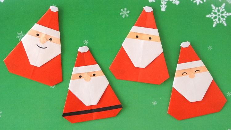 折り紙 簡単なサンタさんの作り方 [Origami] Easy Santa Claus