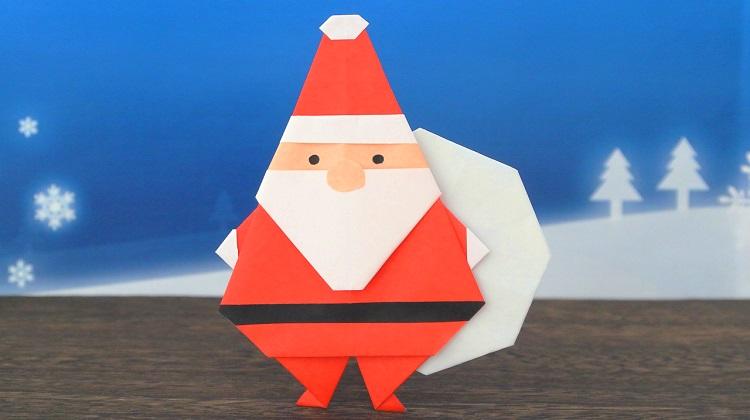 【折り紙】サンタクロースの作り方 [Origami]Santa Claus instructions