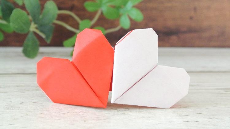 【折り紙】ダブルハートの作り方