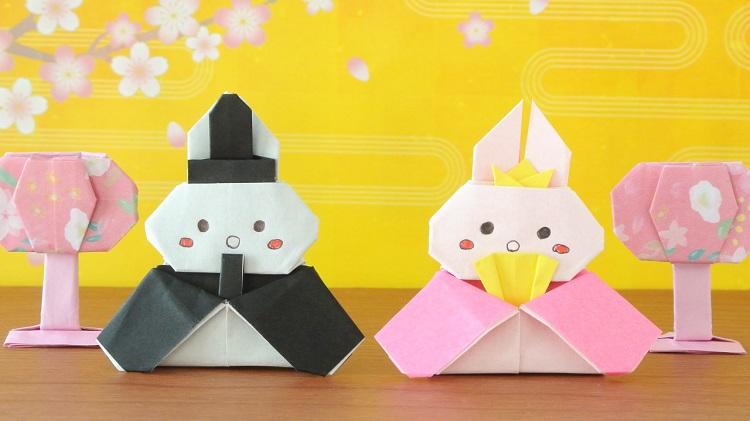 【折り紙】うさぎのお雛様の作り方