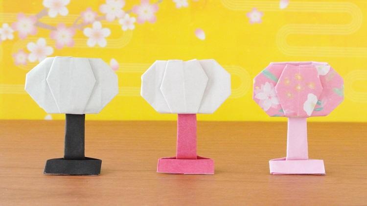 【折り紙】ぼんぼりの作り方2
