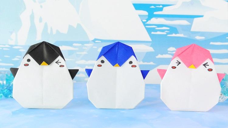【かわいい折り紙】ペンギンの作り方